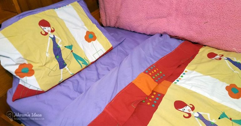 Akram's Ideas: Layla's bedding
