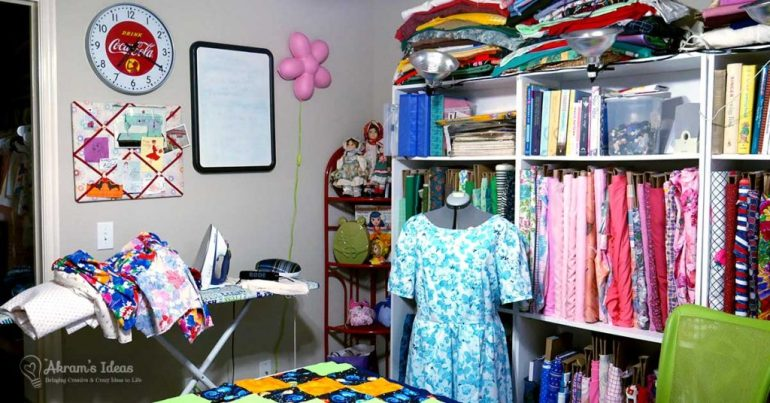 An #HonestCraftRoom tour of my sewing room as it is in its natural state, complete with work in progress and mess.