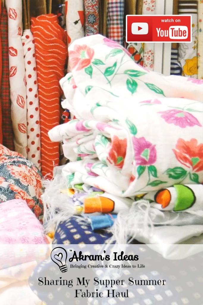 Yet another fabric haul video! This time I'm sharing my super summer fabric haul.