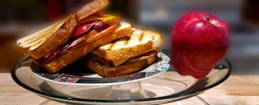 Apple Panini Sandwiches, a quick Bake recipe a healthy weeknight dinner featuring apples, cheddar cheese and a honey dijon mustard and mayo sauce. A gourmet dinner in a few easy steps.