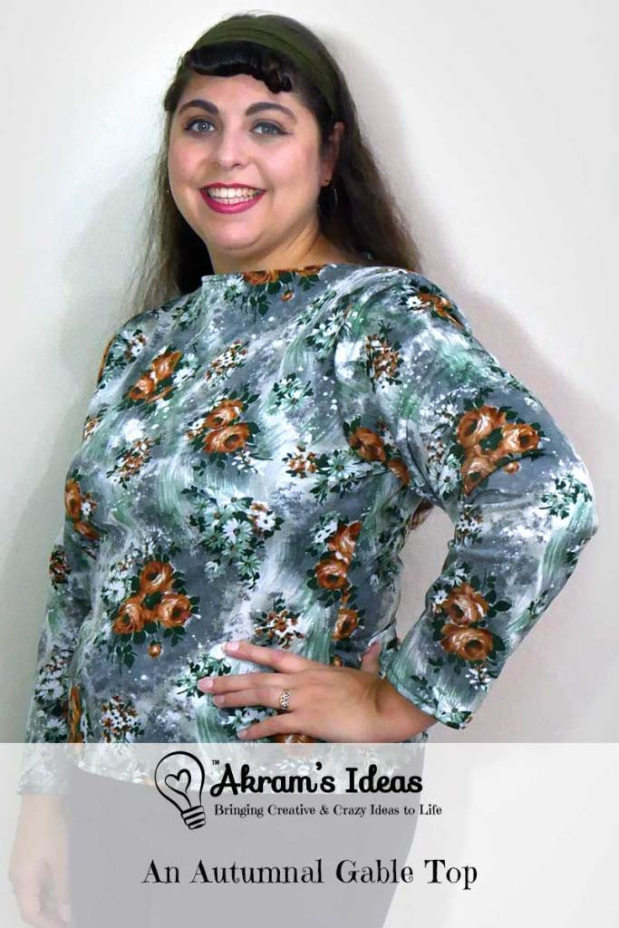 Review of another Gable top from Jennifer Lauren Handmade, this time in an autumnal floral print.