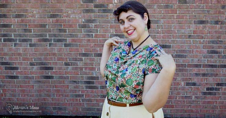 Pattern review for the newly released delightful Pomegranate Top from Octivia Patterns.
