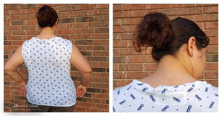 Akram's Ideas: Agnes Top, Ultimate T-Shirt Pattern