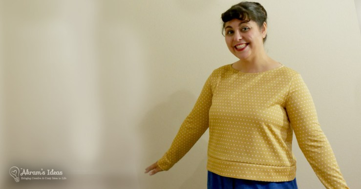 Pattern review of my latest holiday top, the Chestnut sweater from Coco Wawa Crafts.