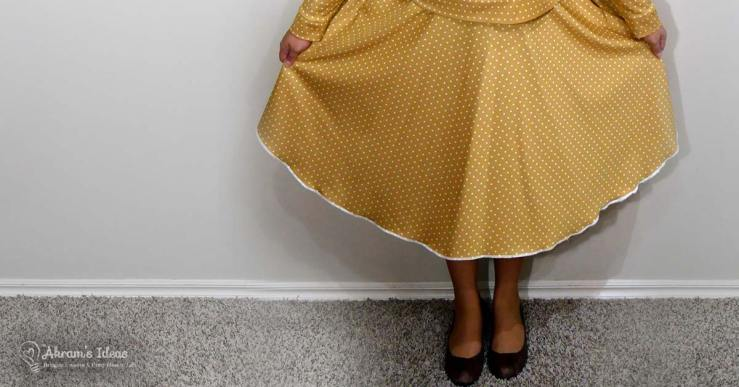 Review of Simplicity 8446 circle skirt pattern and my adjustments for making it with an elasticated waist.