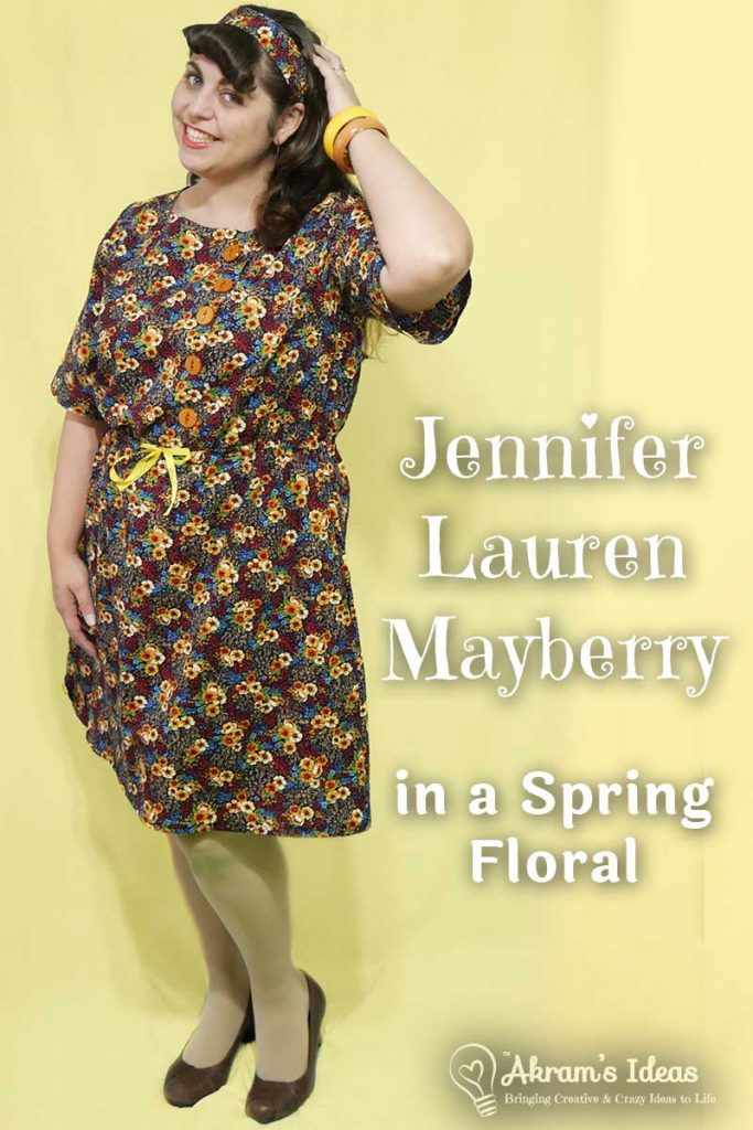 Review of my latest Jennifer Lauren Handmade Mayberry dress, made in a seersucker floral fabric just perfect for Spring weather.
