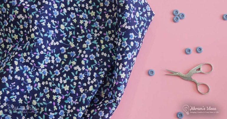 Sew Over It - Vintage Shirt Dress navy floral fabric