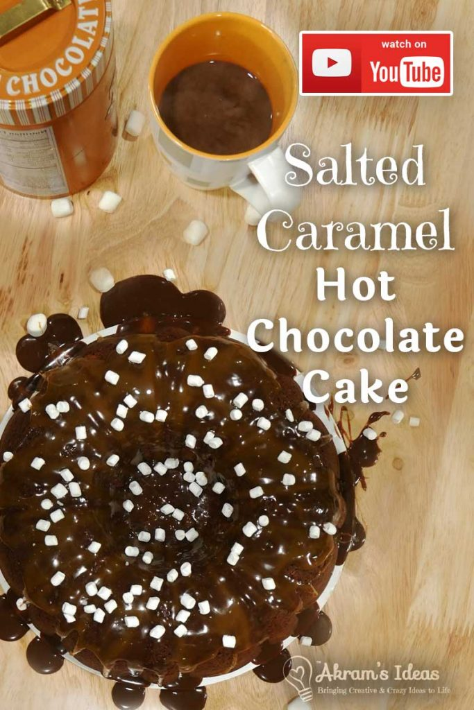 With winter is still alive and well in parts of the world, warm up with a slice of Salted Caramel Hot Chocolate Cake.