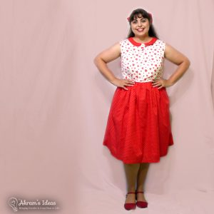 Worked a little magic to finish my Handmade Summer Dress just in time. This red hearts dress is made from contrasting heart print cotton and using the bodice top from Simplicity 1419.