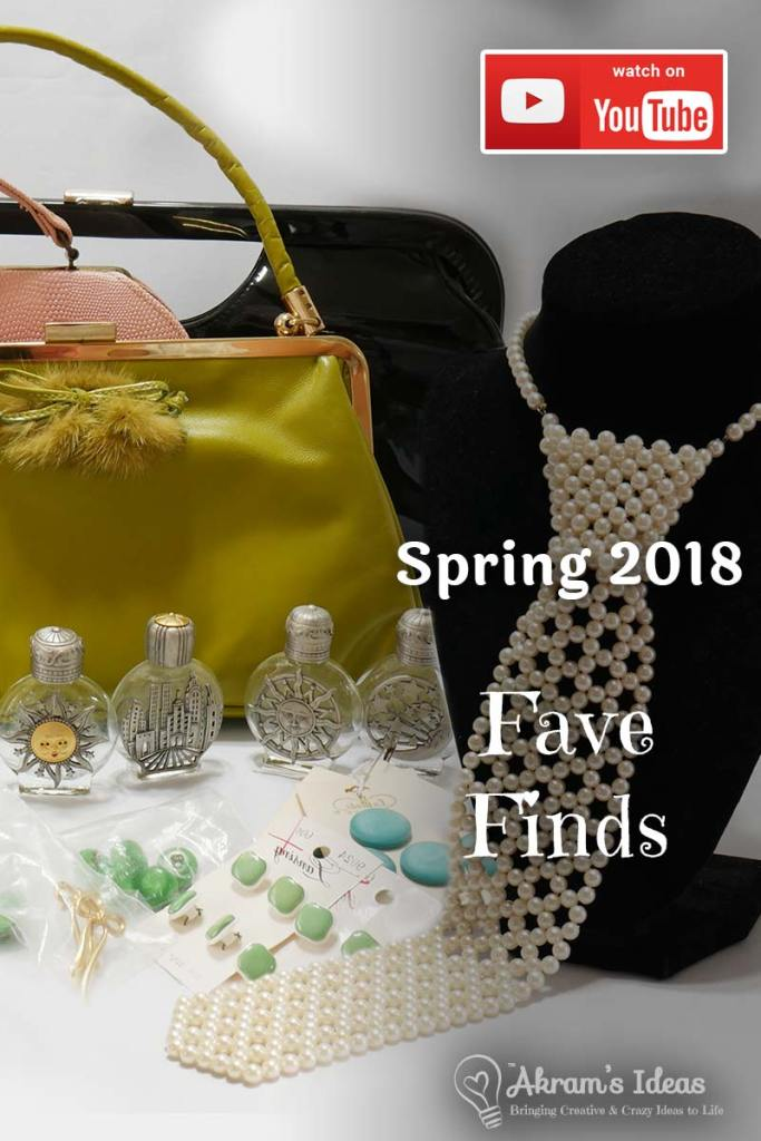 Sharing some of my fave finds for spring 2018, from vintage accessories to sewing items. Check it out see all the goodies I picked up recently.