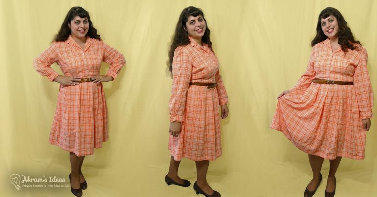 Review of yet another completed UFO project, Vintage Simplicity 3580 a 1960's shirtwaist dress with pleated skirt.