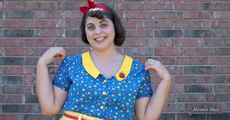 My accidental Snow White cosplay made using Tilly & the Buttons Mimi blouse and Delphine skirt.