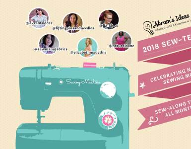 We are celebrating National Sewing month (September) with the #SEWtember2018 sew-along challenge.