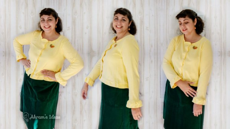 The big reveal of my #CozyCardiChallenge project and it's no suprise I made the #PumpkinCardi from Coco Wawa Crafts. See how I hacked this pattern to make a extra ruffly cropped version.