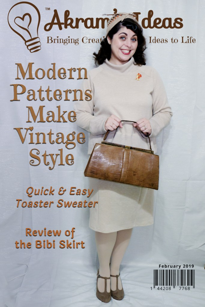 Sharing my new Sew House Seven Toaster Sweater and Tilly & the Buttons Bibi skirt, I made to recreate a 1960's style sweater dress set.