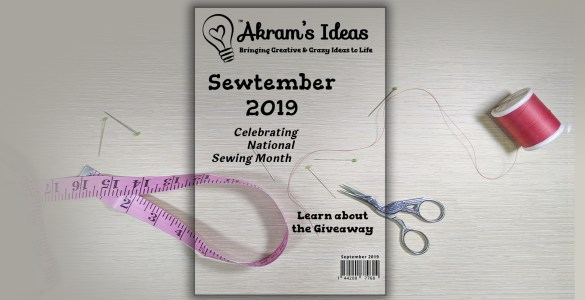 Akram's Ideas: #Sewtember 2019