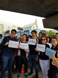 Pro-democracy activists rally in Bangkok as election faces delay