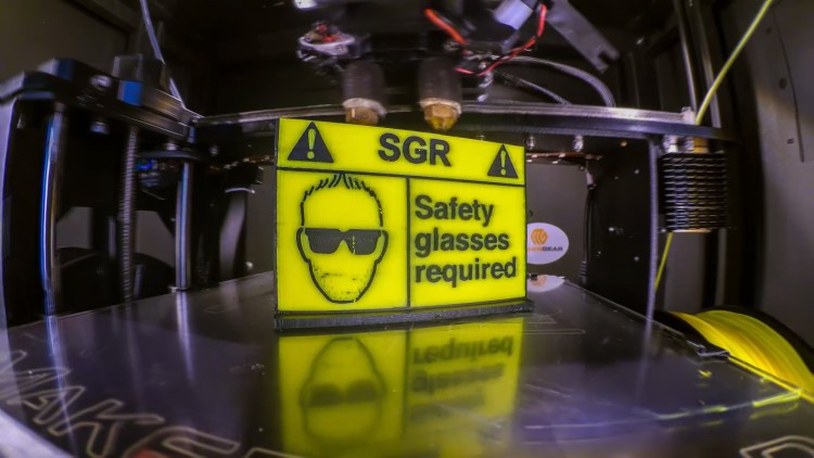 Safety Glasses Required - 3d printing
