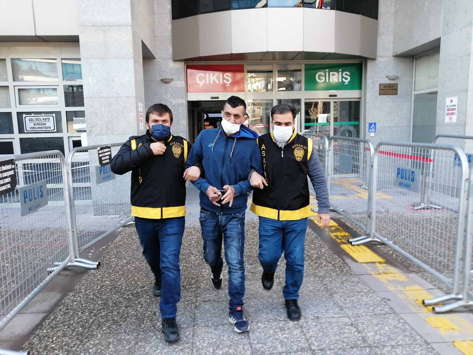 Aksaray'da 19 yıl hapis cezası olan cezaevi firarisi yakalandı