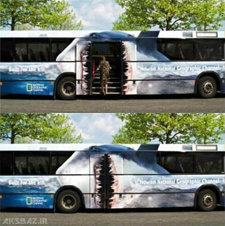 www.musiccloob.com عکس های تبلیغات هوشمند و خلاقانه رو اتوبوس