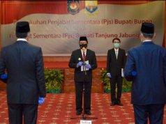 Pjs Gubernur Jambi Titipkan 3 Hal: Pemerintahan, Pilkada Sukses dan Penanganan Covid-19.