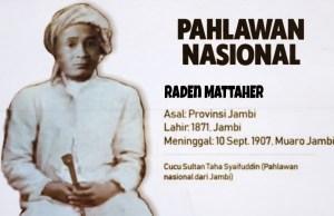 Raden Mattaher, salah satu Pahlawan Nasional terbaru tahun 2020.