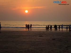 Sunset on Diveagar Beach