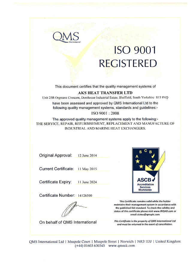 AKS Heat Transfer Certification