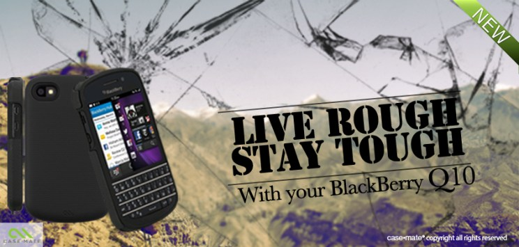 A banner for the release of Case-mate's cases for BlackBerry Q10