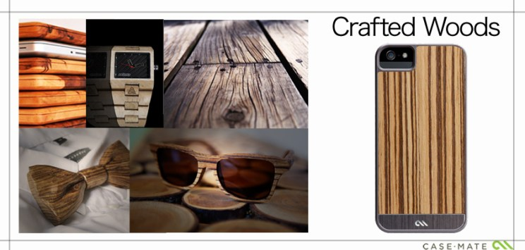 A Collage to match the style of Case-Mate Case Crafted Woods