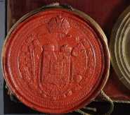 HU MNL OL - R 64 -1 – № 793: II. Lipót függőpecsétje (magyar királyi titkospecsét) a Kristoff Mihály és családja részére adományozott címereslevélen (1791)