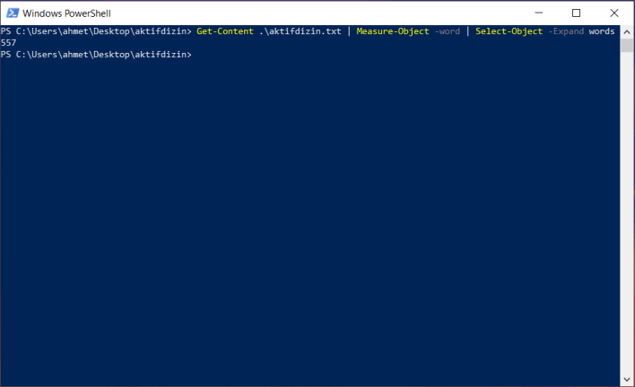 PowerShell Measure-Object Komutu | Örnek PowerShell Komutları