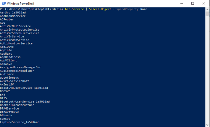 PowerShell Select-Object Komutu