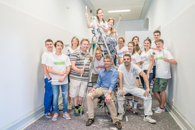"103 Aktionswoche ""Wiesbaden Engagiert!"" 2017 Oranienschule Paul Hartmann Malermeister Foto: Annika List"