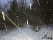 Schneetreiben überraschte uns