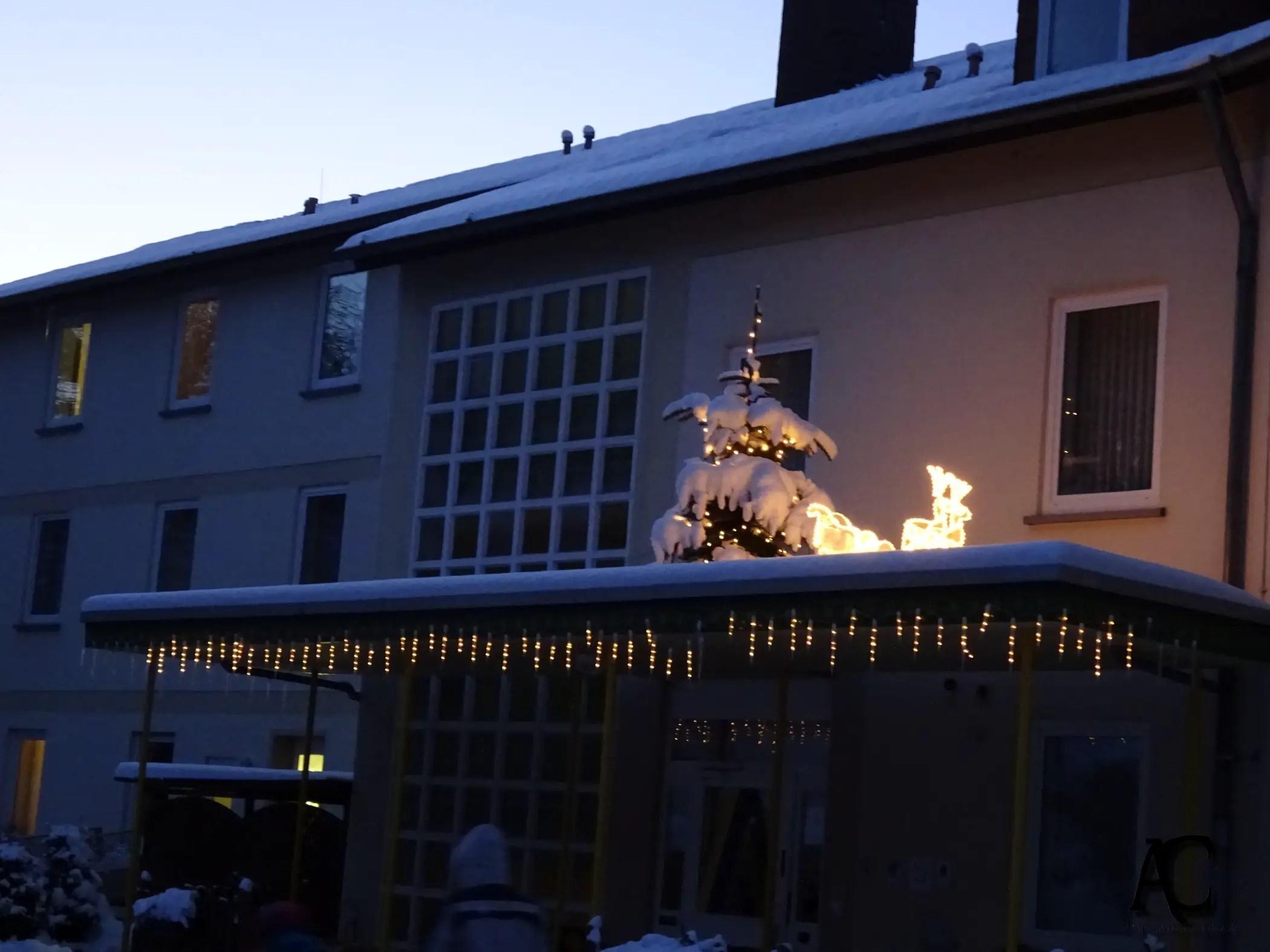 Jugendherberge im Silvester-Glanz