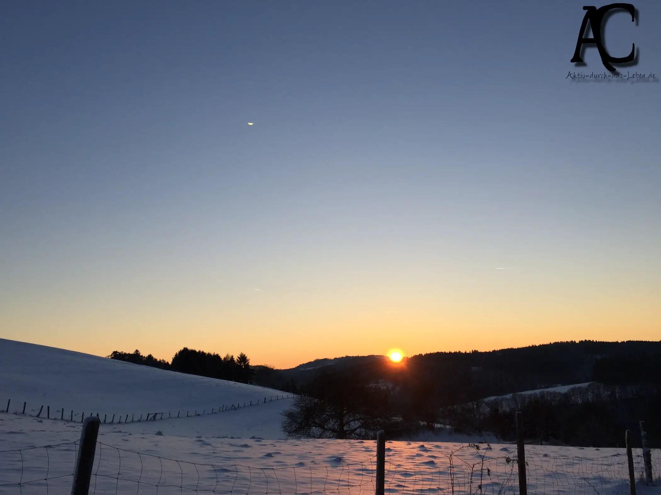 Sonnenuntergang in der Vulkaneifel