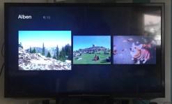 Bilderalben kann man über den Stick am TV schauen, wenn sie in der amazon-Cloud gespeichert sind.