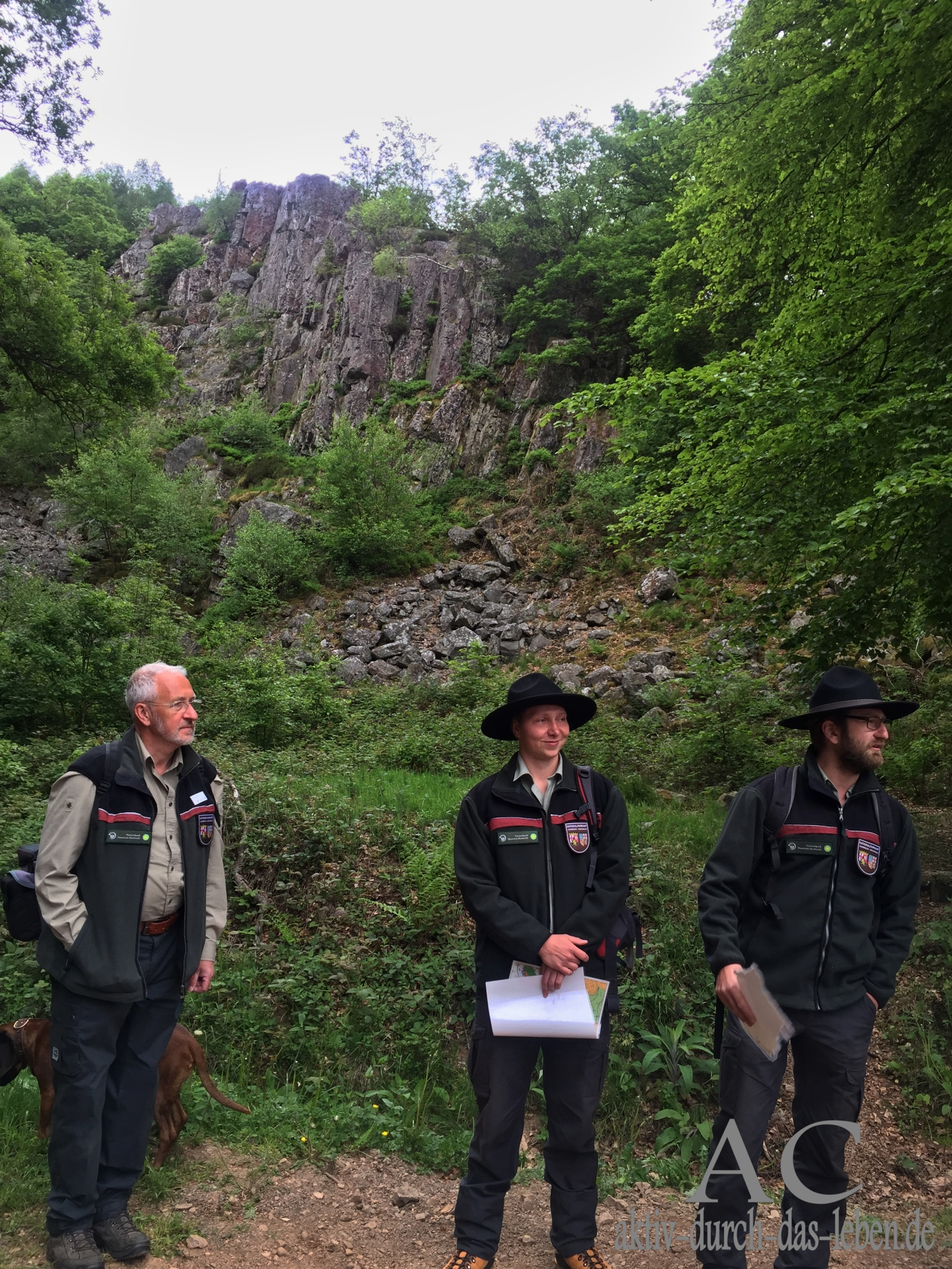 Fotograf Konrad Funk. Ranger Patric Heintz und Gabriel Wern