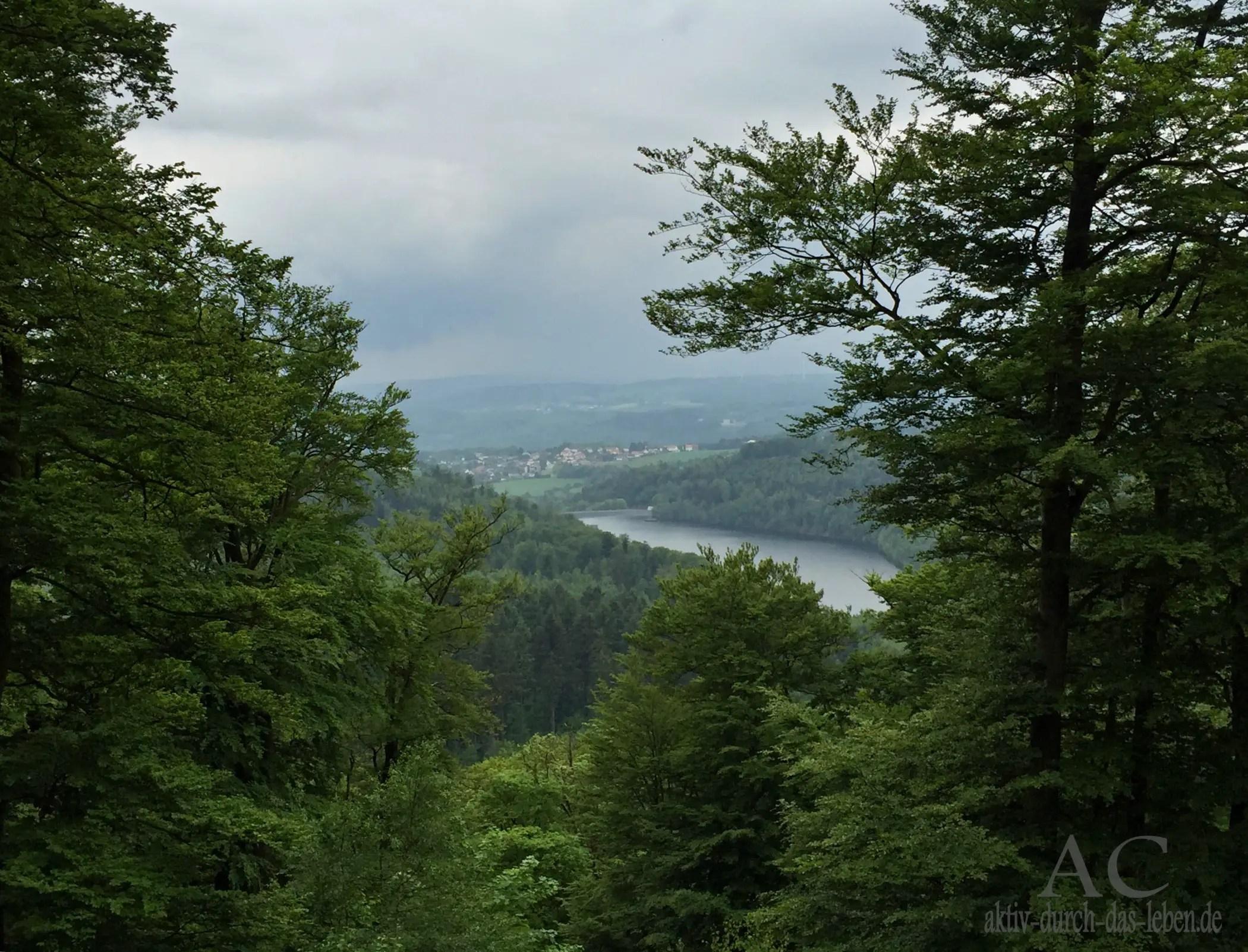 Blick auf die Talsperre Nonnweiler