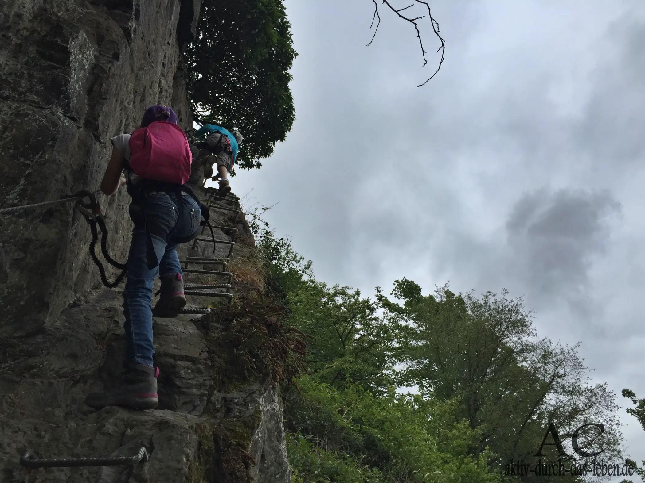 Klettersteig Rhein : Klettersteig mittelrhein mit kindern und höhenangst aktiv durch