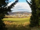 Blick auf Stromberg im Hunsrück
