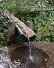 Es sprudelt erfrischendes Wasser, sehr wohlschmeckend