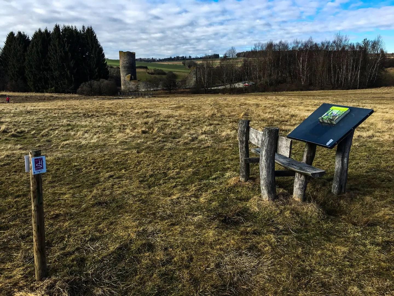 Zurück zur Ruine Baldenau