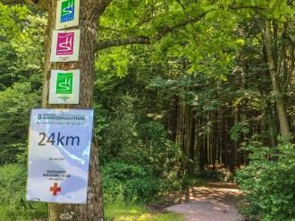 Noh 24 Kilometer bis zum Ziel
