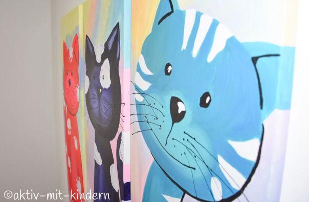 Unsere Wandbilder mit Katze von Bimago in Großaufnahme