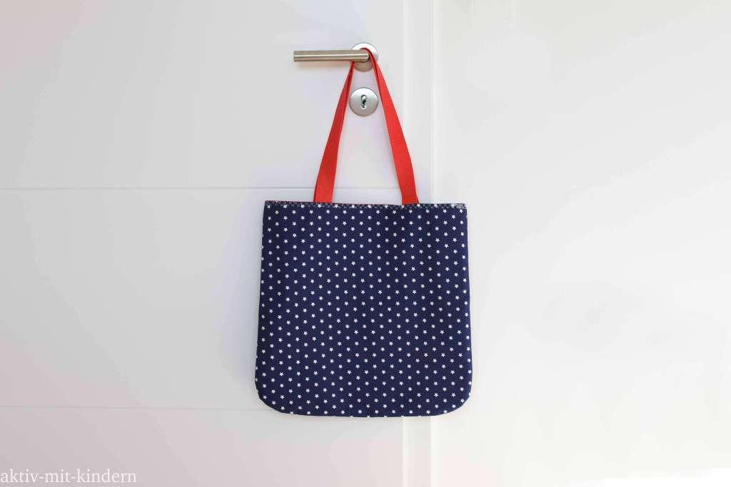 Selbstgenähte Stofftasche auch als Geschenk geeignet