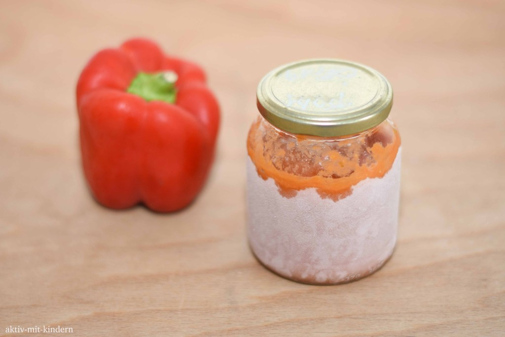 Tomatensauce plastikfrei einfrieren im Glas