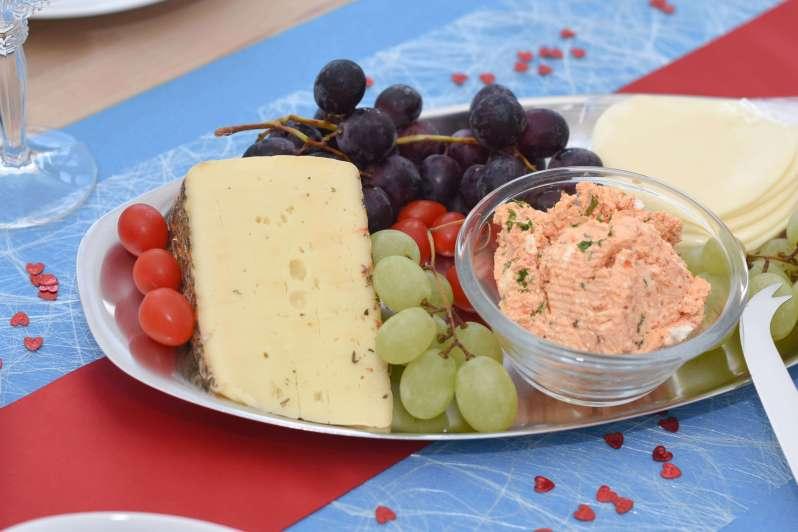 Käseplatte für den französischen Themenabend