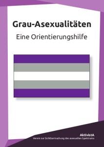 """Vorderansicht des Flyers """"Grau-Asexualitäten - Eine Orientierungshilfe"""""""